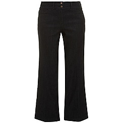 Evans - Indigo pear fit wide leg jeans
