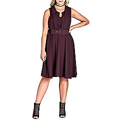 Evans - City chic fit and flare dress
