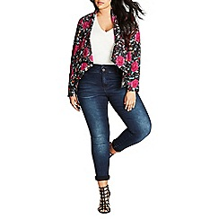 Evans - City chic red floral jacket