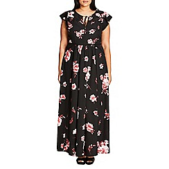 Evans - City Chic floral maxi dress