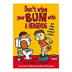 Debenhams - Don't Wipe Your Bum With A Hedgehog