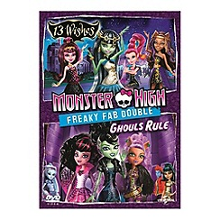 DVD - Monster High   Freaky Fab Double: 13 Wishes & Ghouls Rule DVD