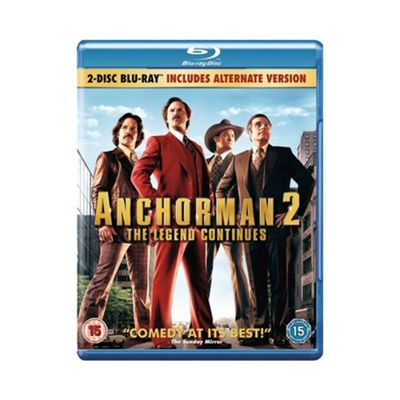 Blu-Ray Anchorman: The Legend Continues Blu Ray - . -