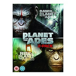 Blu-Ray - Dawn Of The Planet Of The Apes/Rise Of The Planet Of The Apes DVD