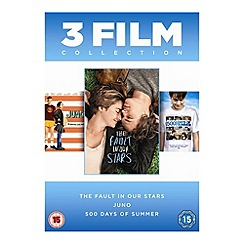 DVD - Fault In Our Stars/Juno/500 Days Of Summer DVD