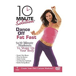 DVD - 10 Minute Solution   Dance Off Fat Fast DVD