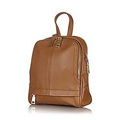 Yumi - Tan mini zip backpack