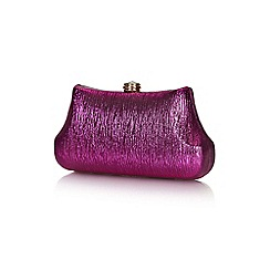 Yumi - Pink metallic clutch bag