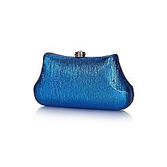 Yumi - Blue metallic clutch bag