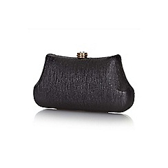 Yumi - Black metallic clutch bag