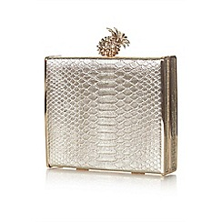 Yumi - Gold pineapple clutch bag