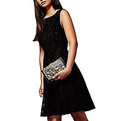 Yumi - Black jewelled vintage floral clutch bag