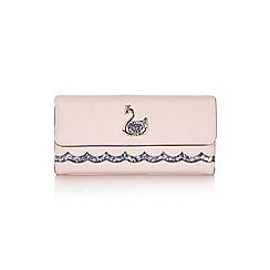 Yumi - Mid rose sequin swan wallet