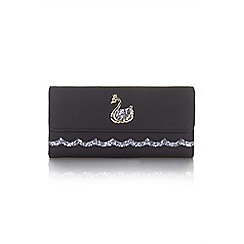 Yumi - Black sequin swan wallet
