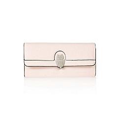 Yumi - Peach owl zip purse