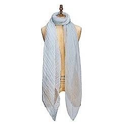 Yumi - Blue woven silk scarf