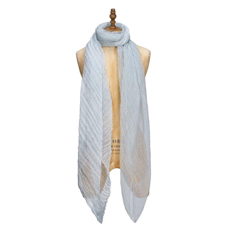 Yumi Blue woven silk scarf