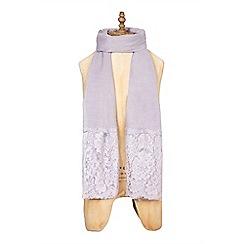 Yumi - Pink lace scarf