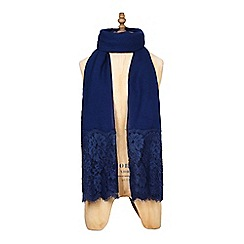 Yumi - Navy lace scarf