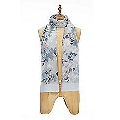 Yumi - Grey butterfly print scarf
