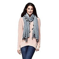 Yumi - Grey pom pom tassel scarf