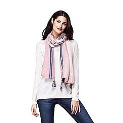 Yumi - Pink striped pastel scarf