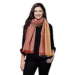 Yumi - Multicoloured tonal knitted scarf