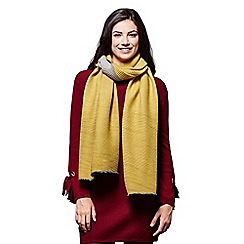 Yumi - Yellow pleated knit scarf