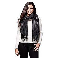 Yumi - Black stripe knit scarf