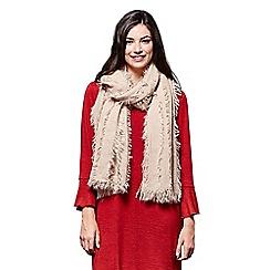 Yumi - Cream fringe layered scarf