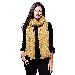 Yumi - Yellow aztec patterned scarf