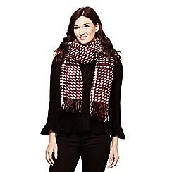 Yumi - Multicoloured small check print scarf