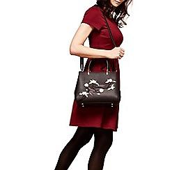 Yumi - Black cherry blossom embroidered bag