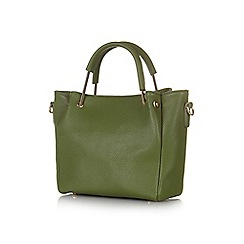 Yumi - Green faux leather tote bag