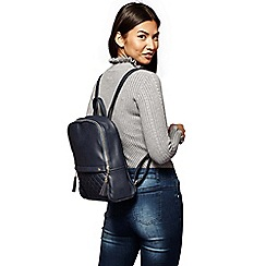 Yumi - Blue quilted pocket with rucksack