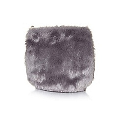 Yumi - Grey faux fur party bag