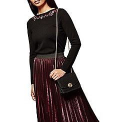 Yumi - Black shimmer party bag