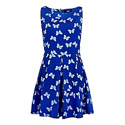 Iska - Blue Butterfly Print Day Dress