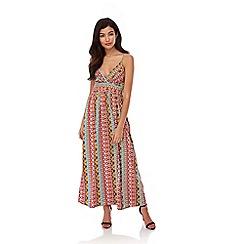 Yumi - Multicoloured Stripe Multi-Colour Maxi Dress