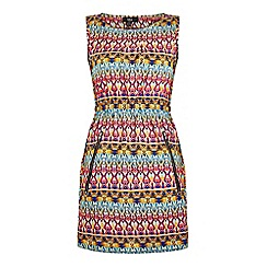 Iska - Multicoloured Aztec Print Zip Pocket Day Dress