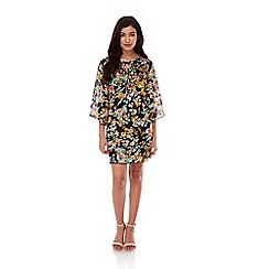 Yumi - Multicoloured Floral Kaftan Tunic Dress