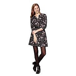 Yumi - Black Dress With Floral Print