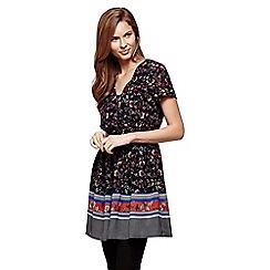 Yumi - multicoloured  Floral  Short Sleeve Dress