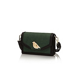 Yumi - Green bird lock handbag