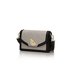 Yumi - Grey bird lock handbag