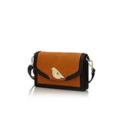 Yumi - Tan bird lock handbag