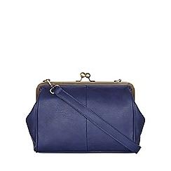 Yumi - Blue Leather Look Shoulder Bag