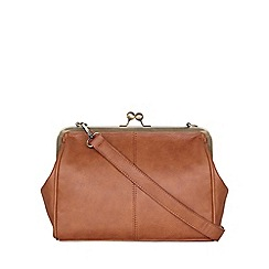 Yumi - Tan Leather Look Shoulder Bag
