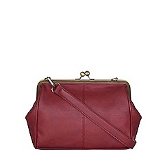 Yumi - Red Leather Look Shoulder Bag