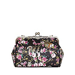 Yumi - Multicoloured  Leather Look Floral Shoulder Bag